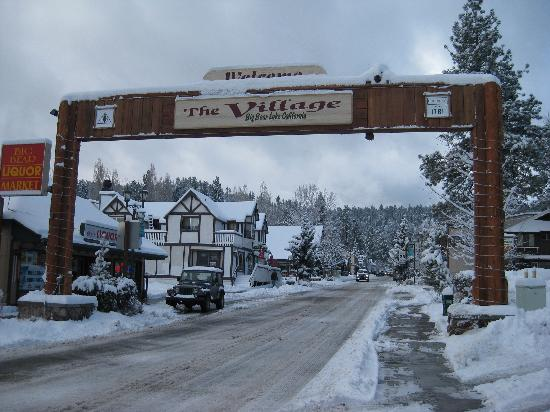 Big Bear Village in winter