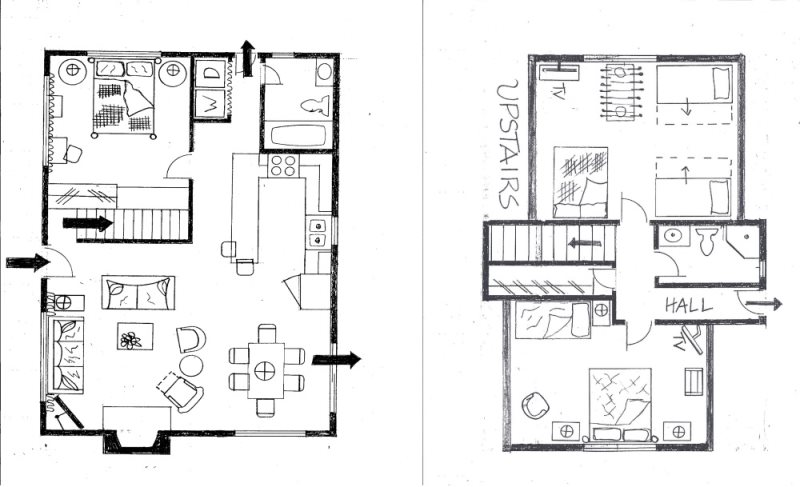 Floor Plan for Forest Chalet: Relaxing Spa, Foosball, and more in Snow Summit/Village Area